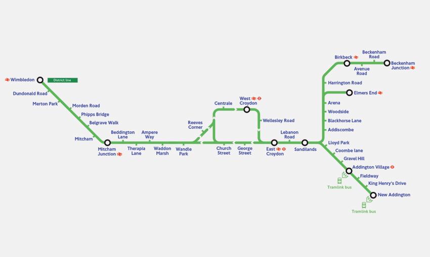 TFL-Tram-Network-map