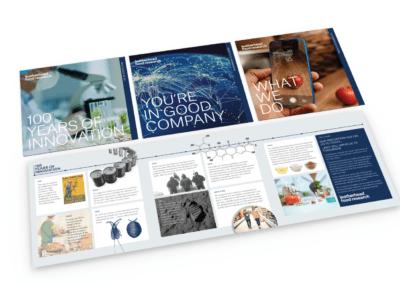 Three marketing brochures